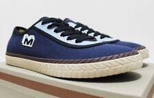 $450 NIB MARNI Men's Navy Sky-Blue Canvas Low Top Shoes Sneakers 12-USA 45-EU