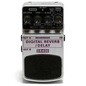 BEHRINGER DR400 DIGITAL REVERB / DELAY Guitar Effect Pedal