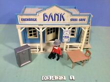 (O3422.1) playmobil maison western Bank ref  3422 3424 3421 3426 3430 3431
