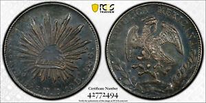 1895-Do ND Mexico 8 Reales First Republic, PCGS AU50, AMAZING RARE TONING!
