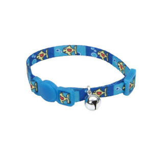 Coastal Safe Cat Lil Pals Adjustable Breakaway Kitten Collar with Bell Fish With