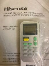 OEM Hisense Air Conditioner AC Remote Conrol