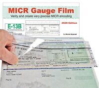 MICR Check Setup Gauge, E-13B & CMC-7 Check Position Gauge Film+ for All Checks