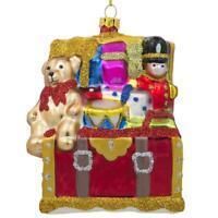 Teddy Bear, Nutcracker, Gift Chest Christmas Ornament 4 Inches