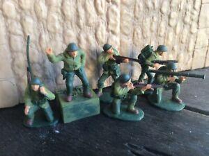 D Day World War 2. 6 US Infantry BMC plastic toy Soldier 60mm