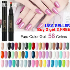 58 Colors One Step Nail Gel Polish Pen Manicure Soak Off Top Base Coat *