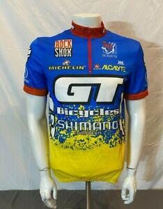 Vintage GT Bicycles Shimano RockShox 1/2-Zip Cycling Bike Jersey Men's XL(?)