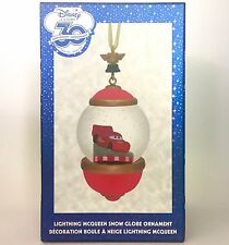 DISNEY STORE 30th ANNIVERSARY SNOW GLOBE ORNAMENT CARS LIGHTNING McQUEEN HOLIDAY