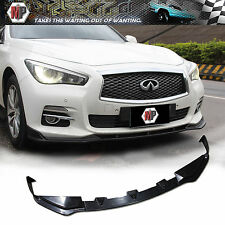 Front Lip (3pcs)ABS Material  Unpainted Fits 2014 2015 2016 Infiniti Q50 2.0
