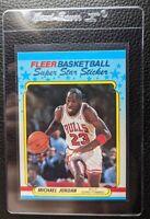 1988 FLEER STICKER #7 MICHAEL JORDAN CHICAGO BULLS HOF