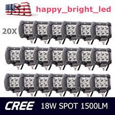 20X 18W CREE 4inch LED Work Light Bar Offroad Spot Fog ATV Driving Lamp Truck HA