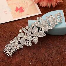 SEQUIN à perles cristal Nuptial Peigne à cheveux Argent Strass Mariage COIFFES