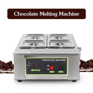 4 Lattice Chocolate Melting Machine Warmer Boiler 4 Melting Pans 8kg 0-90℃ SS