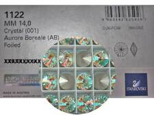 8 Genuine Swarovski Round Rivoli Rhinestones #1122, 14mm Crystal AB