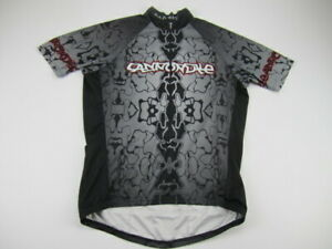 Mens XL Cannondale Bad Boy black  gray cycling jersey