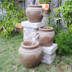 Big Garden Yard Feng Shui Venice Multi Pot Outdoor-Indoor Fountain