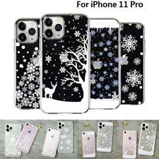 Para iPhone 11 Pro XS Max XR 8 7 6S 6 Navidad X Nieve Suave TPU claro caso cubierta