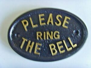 PLEASE RING THE BELL SIGN   HOUSE HOME BUSINESS OFFICE GARAGE FRONT DOOR PLAQUE