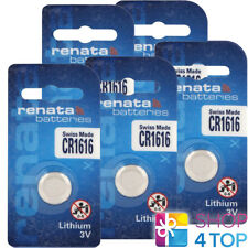 5 RENATA CR1616 LITHIUM BATTERIES 3V CELL COIN BUTTON 280-209 EXP 2023 NEW
