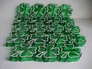 19 SHAMROCK shape mini string LIGHT COVERS ornaments St Patrick's day Decoration
