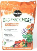 1 Miracle Gro Organic Choice Potting Mix For Container Plants 8 Dry Qt