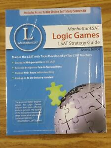 FULL SET OF 3 - Manhattan LSAT 2th Edition Strategy Guides: RC, LG, and LR
