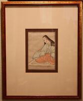 ANTIQUE JAPANESE WOODBLOCK PRINT - SIGNED, FRAMED