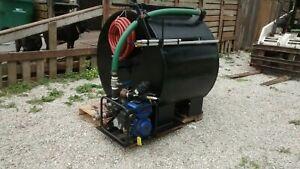 250 gallon sealcoating seal coating hand agitated tank spray rig
