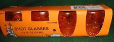 Orange Halloween Plastic Skull Shot Glasses Set of 4