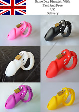 Soft Silicone Male Chastity Device Cage Restraint 2 Sizes 6 Colours UK Seller