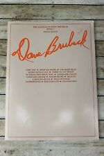 The Genius of Dave Brubeck Book 1 Piano Solos Alfred Sheet Music Book 1984