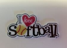 Flat Back Resins (Lot of 2 for $1.50) I Love Softball, Sports Team, Play Ball!