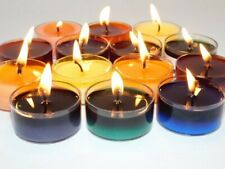 Soy Tea Lights Scented 50-Pack (5-7 Hr) Handmade | White or Asstd. Color