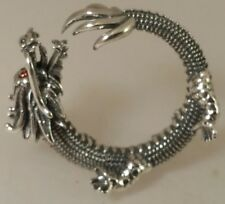 Sterling Silver 925 DRAGON Ring ajustable Size