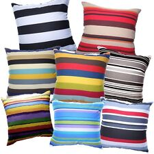 Pillow Cover*Striped Cotton Canvas Sofa Seat Pad Cushion Case Custom Size*AK1