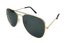 Ella Jonte Retro Sonnenbrille gold grün Herren Damen Pilotenbrille Vintage