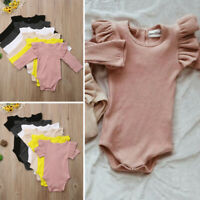 Newborn Baby Girl Cotton Tops Romper Jumpsuit Bodysuit Comfy Outfits Clothes USA