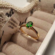 White Gold Plated Solitaire Natural Fine Rings