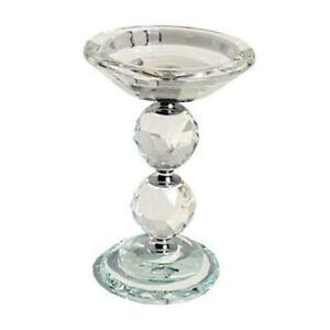 Candle Holders Crystal Glass Votive Pillar Candlesticks, Christmas Home Clear