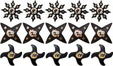 Ninja Martial Arts Rubber Foam Throwing Stars Practice Shuriken Star Set of 15