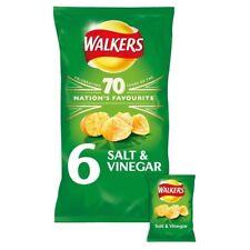 Walkers Salt and Vinegar Crisps 6x25g - Sold Worldwide From UK