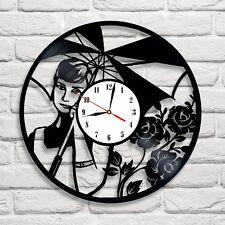 Audrey Hepburn Design Vinile Record Orologio Home Decor Art spostare Pub Negozio Ufficio