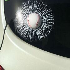Car Creative 3D Baseball Hit Window Car Sticker Windshield Lifelike Decor Decal