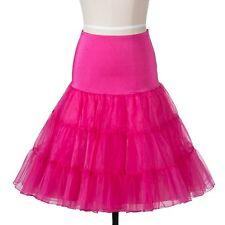 50s Vintage Rockabily Net Petticoat Skirt 26', Pink, Small/Medium (6-14)