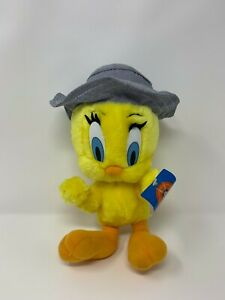 """9"""" tall Ace Novelty Looney Tunes TWEETY BIRD With Blue Hat Plush Doll Toy"""