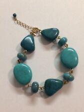 Avon Fuji Bliss Beaded Bracelet Turquoise Color