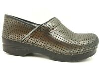 Dansko Iridescent Leather Casual Slip On Comfort Clogs Shoes Womens 38 / 7.5 - 8