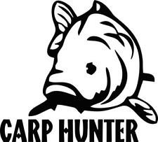 Carpe hunter ii match vinyl decal/autocollant lignes/leurres/pêche à la ligne decal