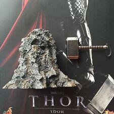 Hot Toys 1/6 MMS146 THOR Figure ROCK BASE & Mjolnir Hammer