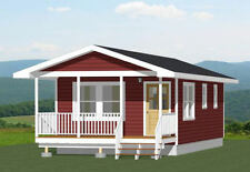 16x32 Tiny House -- 511 sq ft -- PDF Floor Plan -- Model 2A
